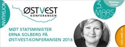 Erna Solberg - bilde - Øst-vest konferansen